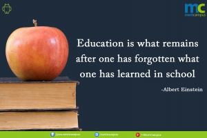 Albert Einstein education saying