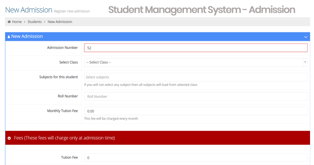 Student Management System - Student Information System - SIS